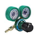 Regulador de presión de CO2, válvula Reductora de presión de oxígeno, regulador de presión Reductor de presión de Soldadura para Cerveza de Barril Homebrew, a Prueba de Golpes