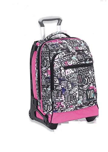 Zaino Trolley Scomponibile Tech Yub Graffiti Girl Sganciabile e Lavabile - Seven