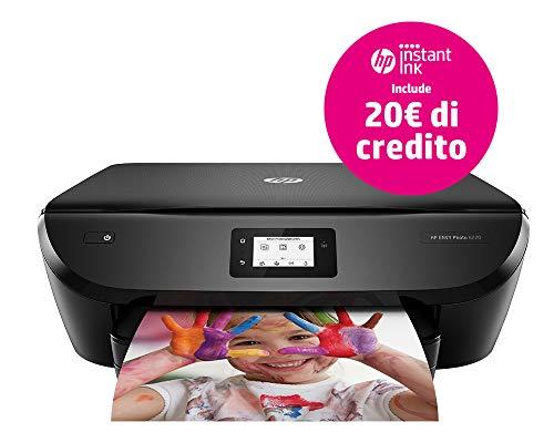 HP ENVY Photo 6220 - Impresora fotográfica multifunción, inalámbrica, color negro con Instant Ink, bandeja de 100páginas, tarjeta de registro negro Negro