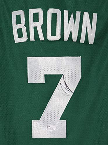Jaylen Brown Boston Celtics Signed Autographed Green #7 Jersey Size 50 JSA COA