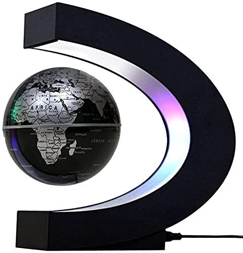 DFGBXCAW Globo levitante cambiante Multicolor Globo de levitación magnética Oficina Decoración Creativa Globo resplandeciente Mapa Mundial-Gold_AU