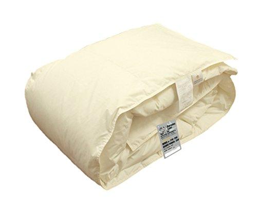 ハンガリー産 ホワイトダウン 93% 洗える 羽毛肌布団 (ダウンケット) シングル 掛け布団 洗濯ネット付 日本製