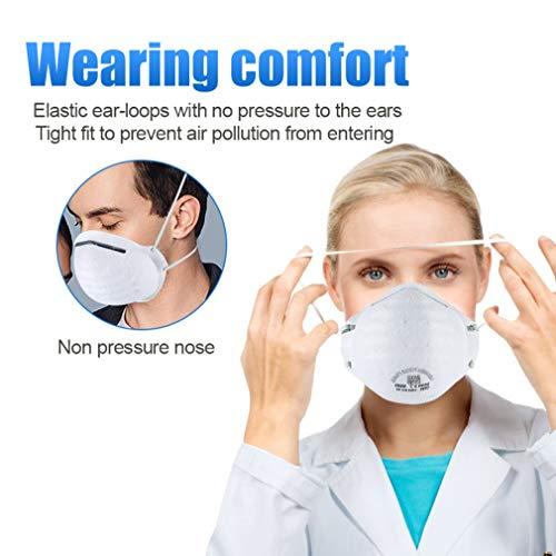 Atemschutzmaske FFP2 Maske Atemschutz Mundschutz Atemschutzmaske zur Prophylaxe Schmierinfektionen & Tröpfcheninfektionen (1PCS) - 6