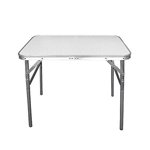 Wohaga Campingtisch klappbarer Alutisch 75x55x60cm mit Tragefunktion - Klapptisch Gartentisch Beistelltisch Falttisch Picknicktisch Aluminiumtisch faltbar und höhenverstellbar