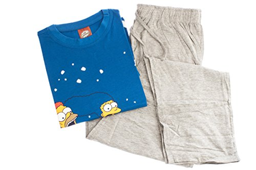 The Simpsons X-Mas Pyjama-Set Schlafanzug T-Shirt 2-teiler (XL (56-58))