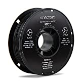 STVICTORY 3D Printer Filament 1.75mm, PLA Plus 3D Printing Filament, Dimensional Accuracy +/- 0.03 mm, 1kg Spool (2.2lbs), Fit Most FDM Printer (Black)