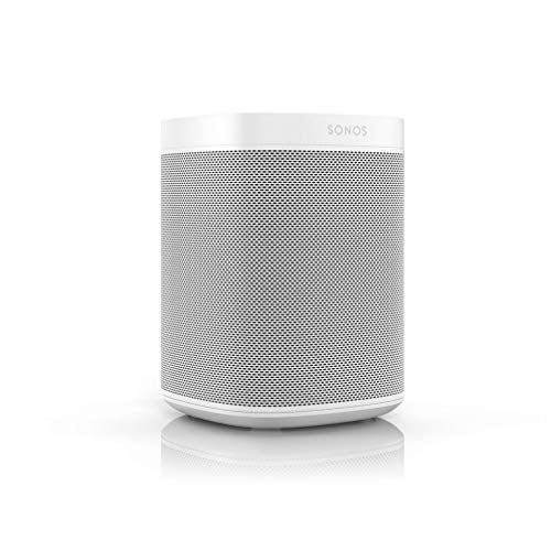 Sonos One altavoz inteligente con control por voz de Amazon Alexa & asistente de Google, conexión wifi y compatibilidad con AirPlay en dispositivos iOS, color blanco