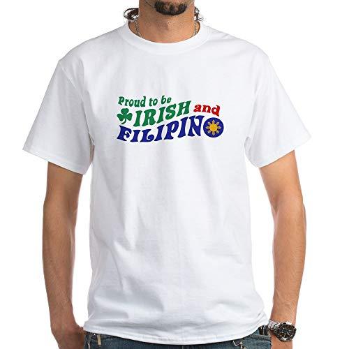 CafePress Proud to Be Irish and Filipino White T Shirt 100% Cotton T-Shirt, White