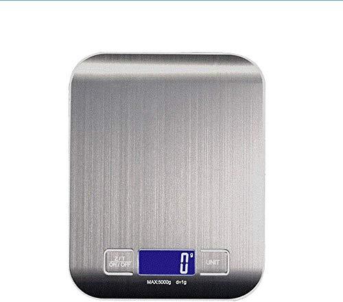 Hancoc Escala de cocina digital 1g-5kg / 10kg, básculas de cocción electrónica de acero inoxidable de primera calidad, básculas de pesaje de alimentos con pantalla LCD para hornear, cocinar-10kg_black