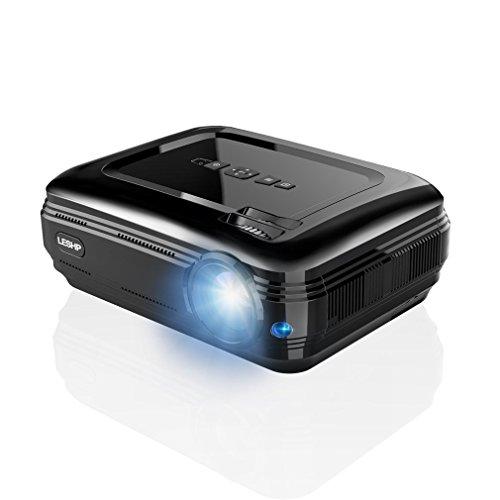 【最新版】 ICOCO-LESHP プロジェクター wifi接続 Bluetooth6.0機能 3200ルーメンフル HD 1080p入力対応 1920x1080最大解像度 ホームシアタープロジェクター Miracast /Airplayに対応 LED無線投影機 台形補正 DVD iPhone ゲーム機 パソコン タブレットスマホ対応 HDMI USB VGA TV入力 PDF日本語説明書 Android 6.01 (ブラック)