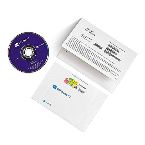 10X Windows 10 Pro Professional DVD 64 Bit + Licenza Sticker Coa Product Key - OEM PACK ITALIANO - Versione FULL Completa- FQC-08913