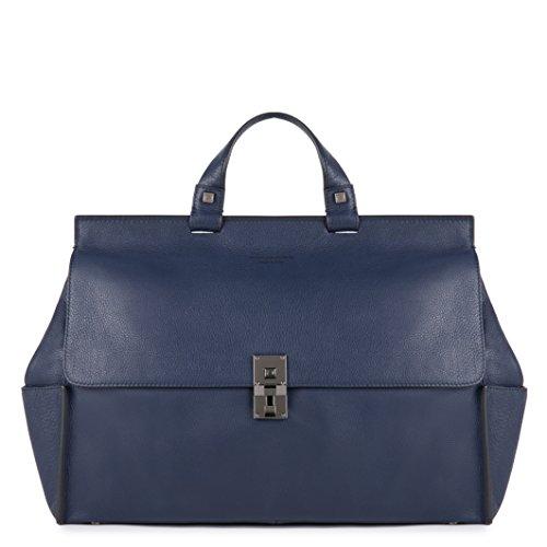 Piquadro CA3806W72/BLU Cartella Collezione Sirio, Pelle, Blu, 40 cm