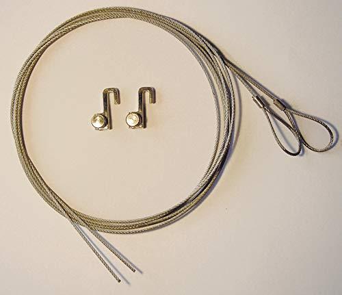 Franken BS1203 Montagematerial für Wechselrahmen (Stahlseil und Metallhaken) metall/grau