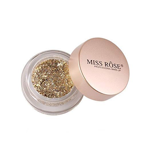 Miss rose Waterproof Loose Powder Make-Up Eyes Dust Eye Shadows Shimmer Pigment, golden, 7 g