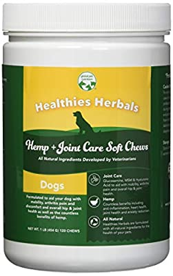 Global Pet Nutrition All-Natural Joint Care Soft Chews With Glucosamine, Msm & Hyaluronic Acid | Also Contains Full Dose Of Hemp Seed Powder & Oil | 120 Chews Great Value