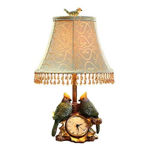 Lampe de table Salon Décoration Chambre Bureau Horloge Etude Lampes Creative Bird Shade Décoration