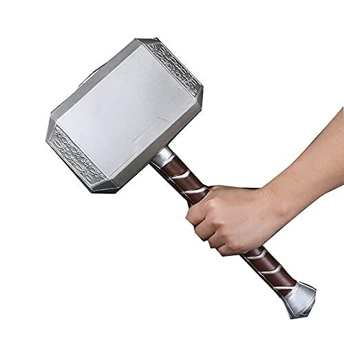 JYZ Thunder, Hammer PU de Dios Espuma 1: 1 Arma Cosplay Thor Reducción Hammer Mascule Niños Marvel Avengers ensamblado Sismoke, Tamaño