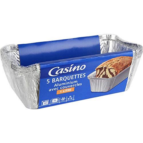 Casino - Vaschetta in alluminio con coperchio, set di 4