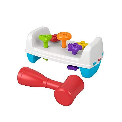 Fisher-Price GJW05 - Werkbank, beidseitiges Spielzeug für Babys und Kleinkinder ab 1 Jahr