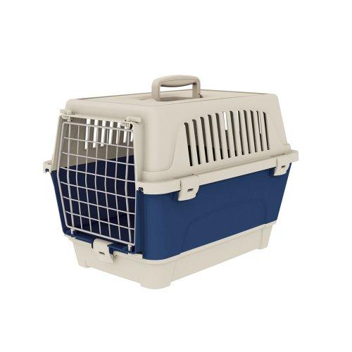 Ferplast 73007399W1 Transportbox ATLAS 10 ORGANIZER, für Katzen und Hunde, 47,6 x 33,25 x 33,6 cm, blau