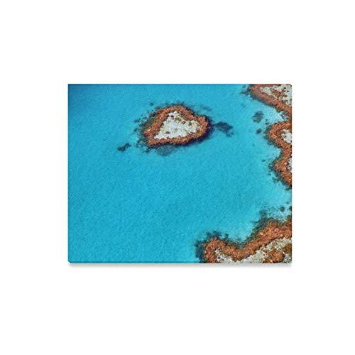 LONGYUU Leinwand drucken Küche Australien Great Barrier Reef Coral dekorative Wandfarbe Badezimmer Wandkunst Dekorationen drucken Dekor für Zuhause 20x16 Zoll