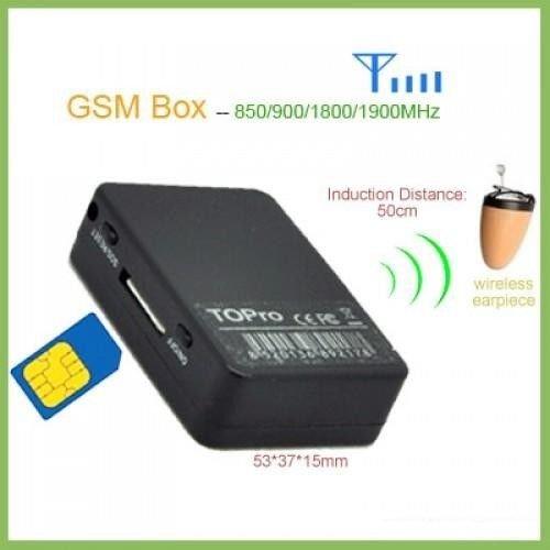 Best Spy Nano Earpiece Invisible GSM Bluetooth Phone Box Hidden Micro Wireless Earphone Covert