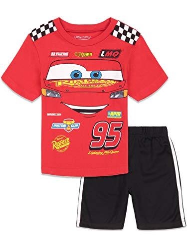 Disney Cars Lightning McQueen Toddler Boys T-Shirt and Mesh Shorts Set 4T