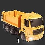MADBLR7 1:20 Trucks Toy Set, sitio de vehículos de construcción RC para niños, juguetes de ingeniería, juego para niños, coches RC, excavadora, excavadora, tractor, topadora, volcado, cemento, regalos