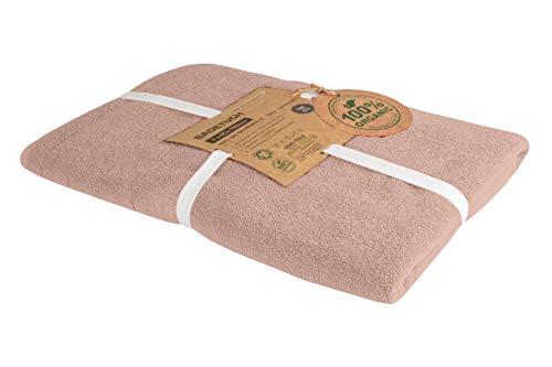 BLUE MOON Toallas biológicas – Juego de toallas de algodón orgánico 100% natural, sin necesidad de plástico, suaves, de secado rápido y lavables a máquina, 90 x 180 cm, diseño de ladrillo