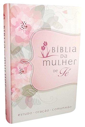 Bíblia da Mulher de Fé, NVI, Couro Soft, Flores