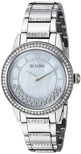Bulova Women's Floating Crystal Dress Watch (Model: 96L257)