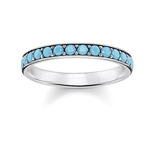 Thomas Sabo Damen-Jahrestag Statement Ring 925 Sterlingsilber mit \'- Ringgröße 54 TR2178-667-17-54