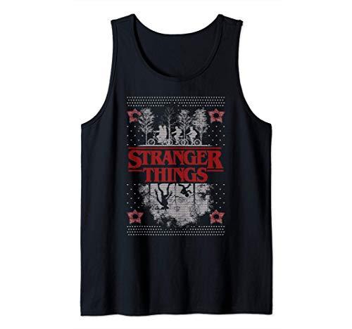Netflix Stranger Things Ugly Christmas Sweater Style Camiset