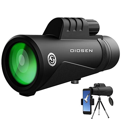Best Deals! OIOSEN Monocular Telescope, Upgrade High Power 12x50 HD Dual Focus Scope with Smartphone...