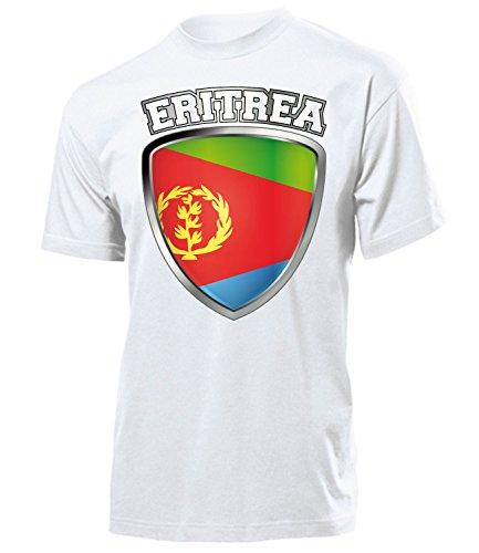 Eritrea Fanshirt Fussball Fußball Trikot Look Jersey Herren Männer t Shirt Tshirt t-Shirt Fan Fanartikel Outfit Bekleidung Oberteil Hemd Artikel