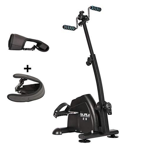 WGFGXQ Bicicleta de rehabilitación, Gimnasio con Pedal, Ejercicio con Pedal portátil Superior e Inferior Ajustable, bielas Plegables, práctico y Ligero, fácil de Usar, Pedal de almacenami