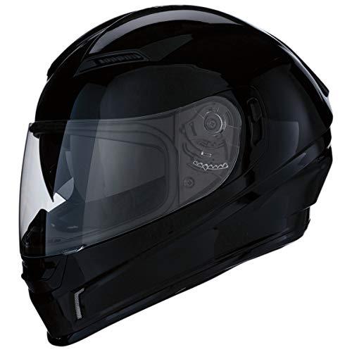 Z1R Casco de Moto Integral Homologado con Pantalla Transparente y Visera Parasol Desplegable | Ventilación | Negro Brillante | Policarbonato | Hombre o Mujer (Medium)