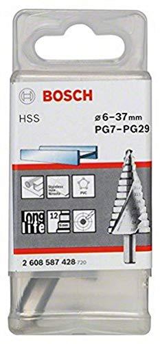 Bosch Professional Stufenbohrer HSS mit 3-Flächen-Schaft (Ø 6-37 mm)