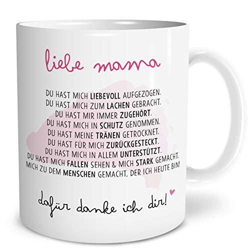 OWLBOOK Danksagung Mama große Kaffee-Tasse mit Spruch im Geschenkkarton Geschenkidee Geschenke Muttertag Muttertagsgeschenk für Mutter