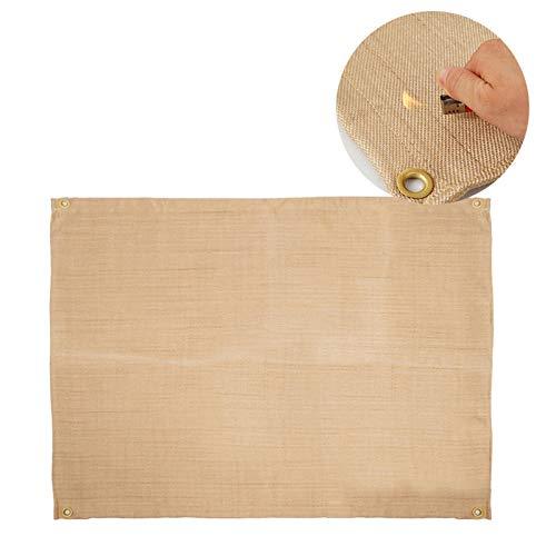 Pano para grelhar, tapete para churrasqueira à prova de fogo, pano retardante de chama, manta para ambientes externos para piquenique e churrasqueira ao ar livre