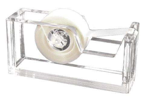 Kantek Acrylic Tape Dispenser, 1.8-Inch Wide x 5.6-Inch Deep x 2.9-Inch High, Clear (AD60)