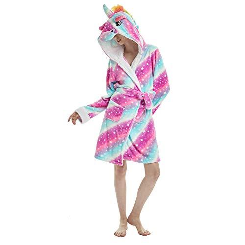 Mujer Pijamas de Unicornio, Unicornio Bata de Baño Onesies Adultos Pijamas de Animales Camisón de Dibujos Animados Suave Ropa de...