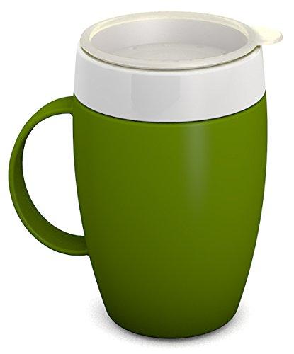 Ornamin Becher mit Trink-Trick 140 ml grün mit Thermofunktion und Trinkdeckel (Modell 905 + 814) / Spezial-Trinkhilfe, Nasenbecher, Schnabelbecher