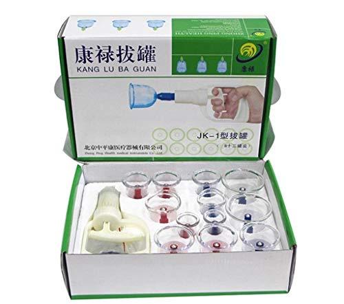 Pro Cupping Therapie Set Cupping Vacuüm Massage met Pompen Handvat, Natte/Droog Thuis Spa Gezondheidszorg Traditionele Thuis Medische Fysieke