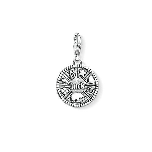 Thomas Sabo Mujer Colgante Charm Moneda de la suerte Charm Club Plata de ley 925 1682-637-21