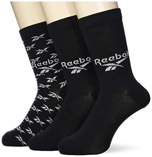 Reebok CL Fo Crew Sock 3P Calcetines, Unisex Adulto, Negro, S