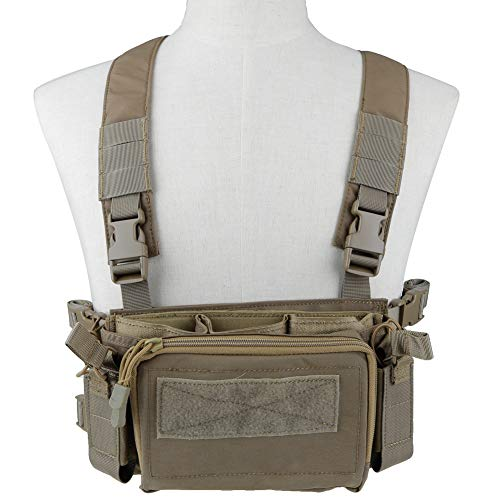OAREA Camouflage Quick Release Tactical Vest Airsoft Ammo Chest Rig