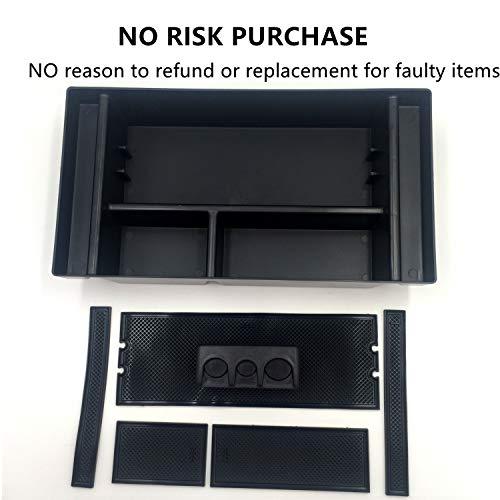 Center Console Armrest Storage Box Insert Organizer Tray Glove Box Storage for Camry 2012 2013 2014 2015 2016 4XBEAM
