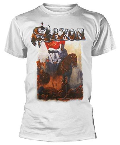 Saxon 'Crusader' (White) T-Shirt (Medium)