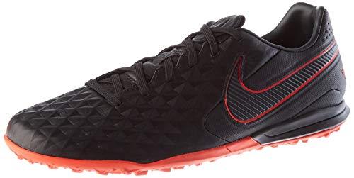 Nike Unisex Legend 8 Pro TF Football Shoe, Black/Dark Smoke Grey-Chile Red-Chile Red, 44 EU